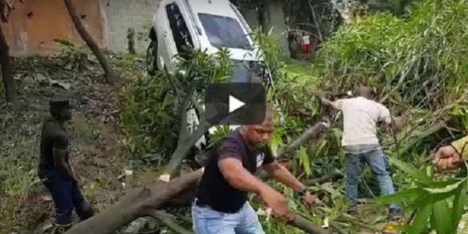 Chofer del bachatero Zacarías Ferreiras se accidentó